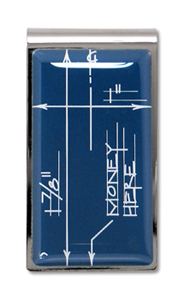 Blueprint Money Clip